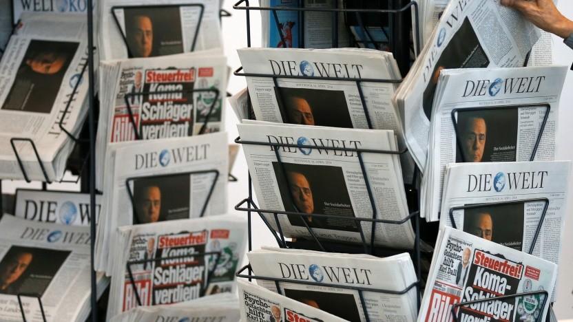 Die Angebote des Axel-Springer-Verlags würden vom Leistungsschutzrecht am meisten profitieren.