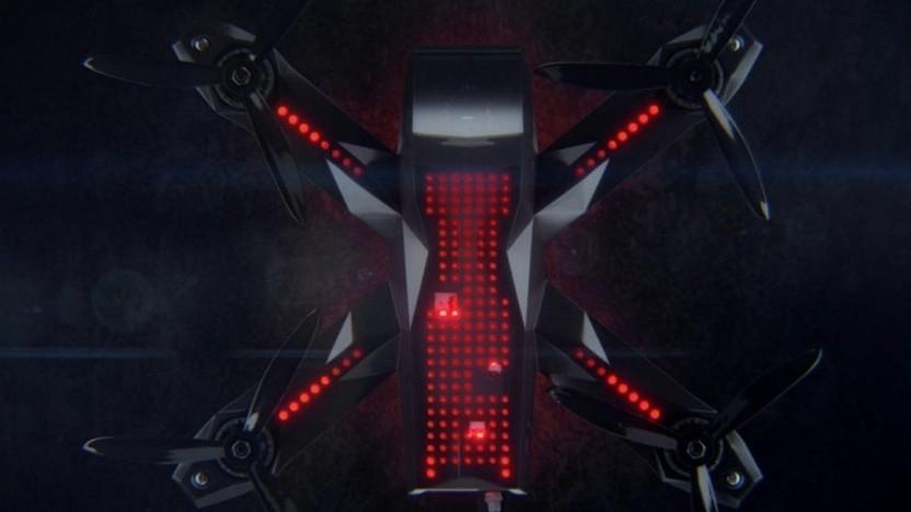 Renndrohnen sind durch viele LEDs immer sichtbar.