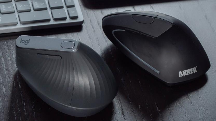 Logitechs MX Vertical gegen Ankers vertikale Maus