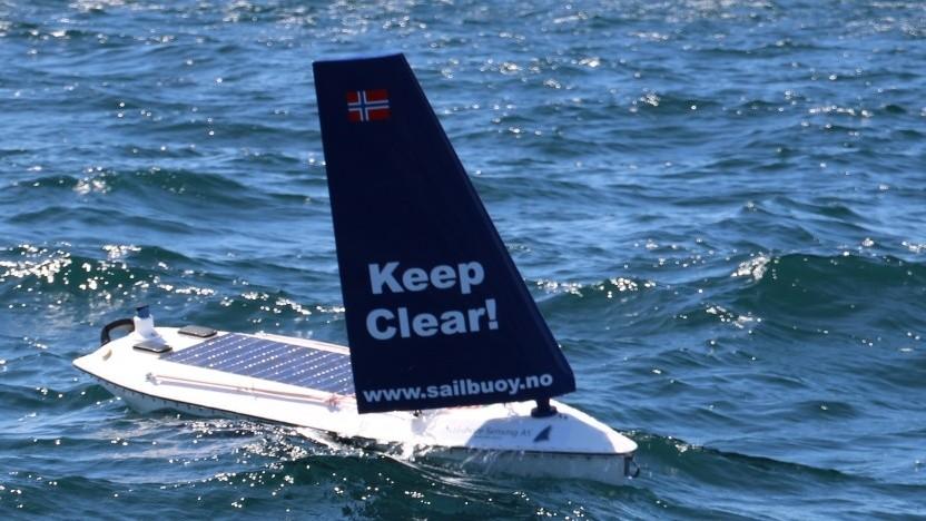 Robotisches Segelboot Saibuoy (Symbolbild): Sensorplattform für die Meeresforschung