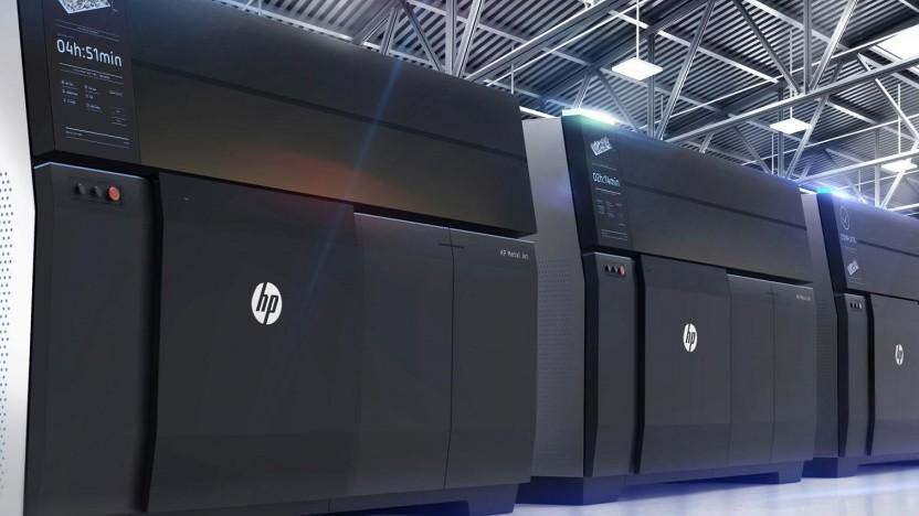 Mehrere HP Metal Jet nebeneinander