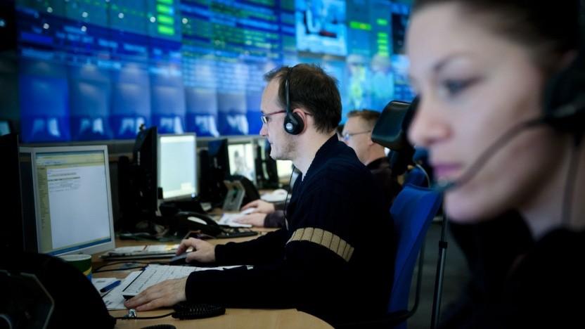 Beschäftigte im T-Systems Rechenzentrum in Magdeburg