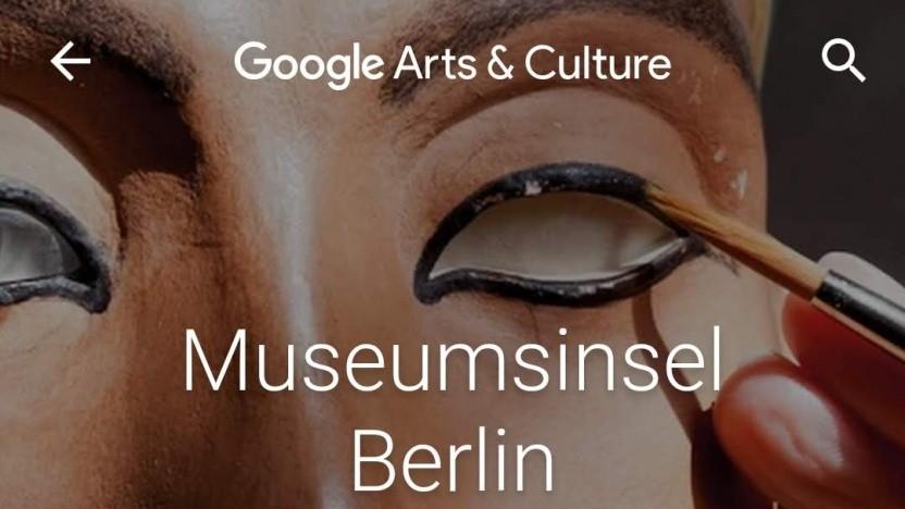Die Museumsinsel in Googles Kultur-App Arts & Culture