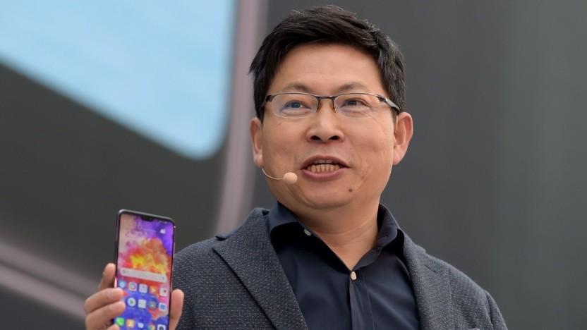 Richard Yu bei der Vorstellung des P20 Pro