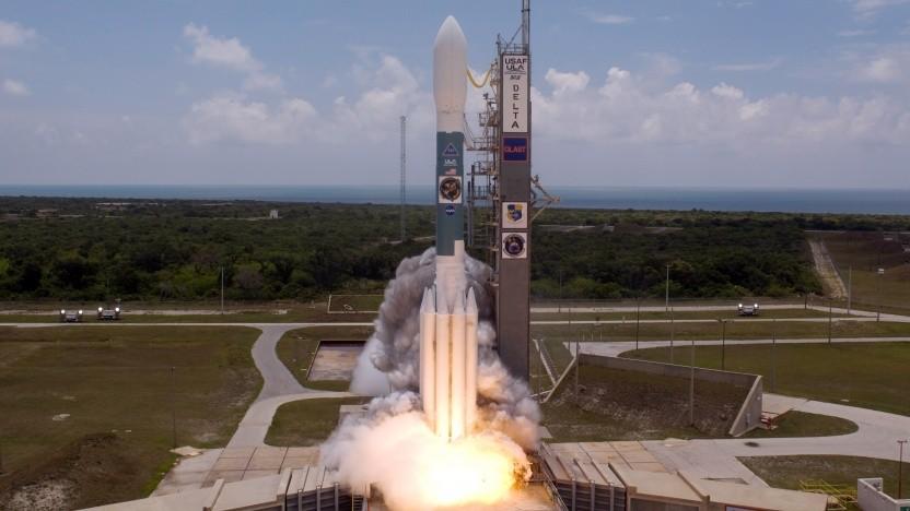 Eine Delta II beim Start