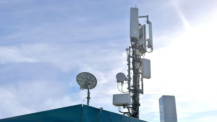 Mobilfunkantenne in München, O2 Tower (Zentrale Telefónica Deutschland)