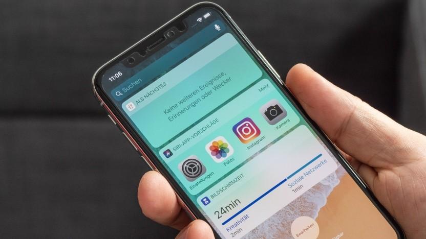 Das neue iOS 12 auf dem iPhone X