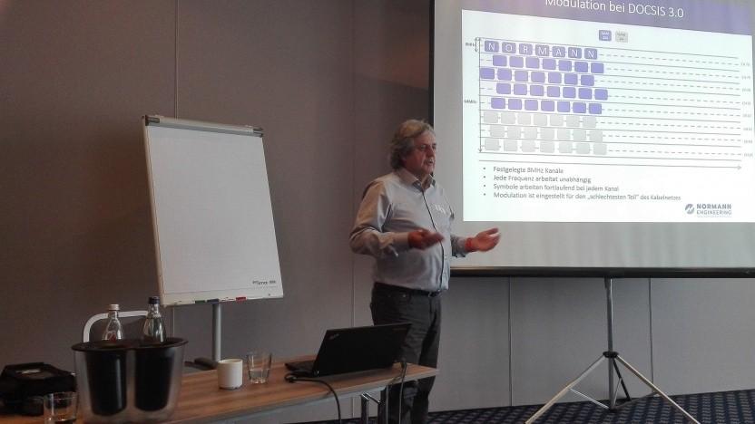 Eugen Takacs von Normann Engineering am 17. September 2018 in Leipzig