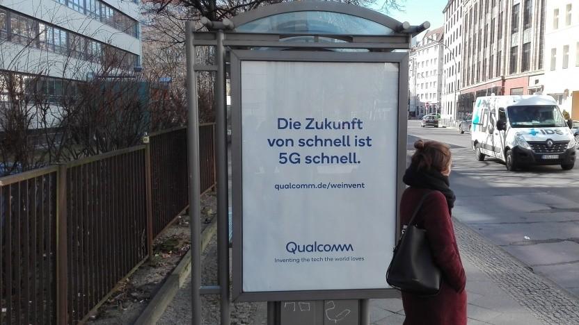 Erste 5G-Werbung in Berlin