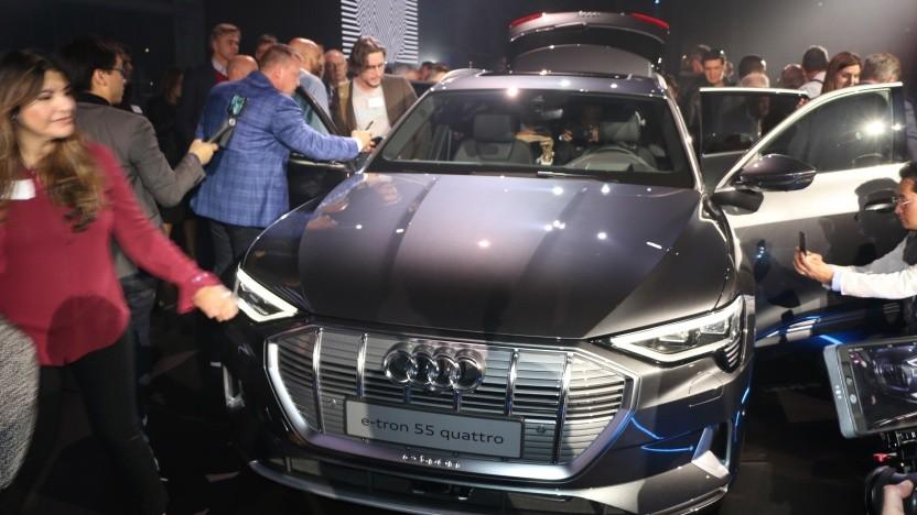 Audi präsentiert den neuen E-Tron mit großem Pomp in San Francisco.