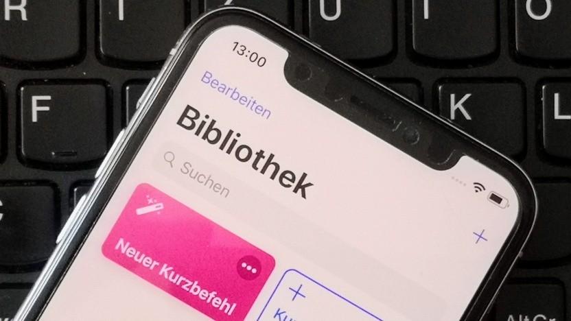 Die Kurzbefehle-App auf einem iPhone X