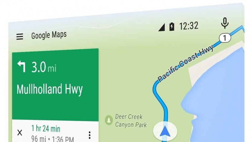 Der Startbildschirm von Android Auto