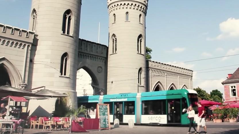 Die erste autonome Tram fährt in Potsdam.