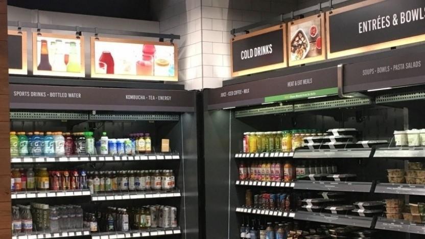 Ein Amazon-Go-Supermarkt von innen