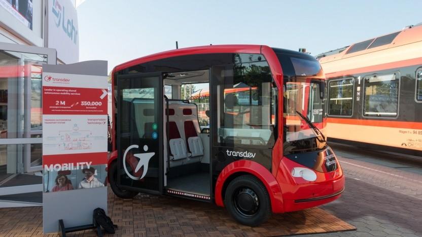 Autonomer Bus I-Cristal (auf der Innotrans 2018):  zeigen, wie autonome Fahrzeuge den öffentlichen Nahverkehr ergänzen