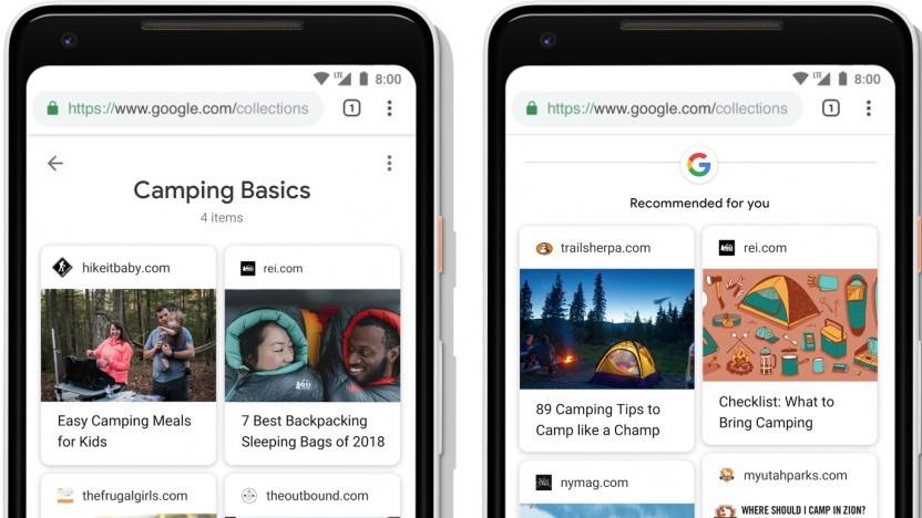 Die neuen Sammlungen für die Google-Suche