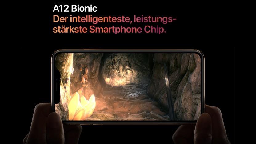 Apple bewirbt den A12 Bionic als besonders leistungsstark.