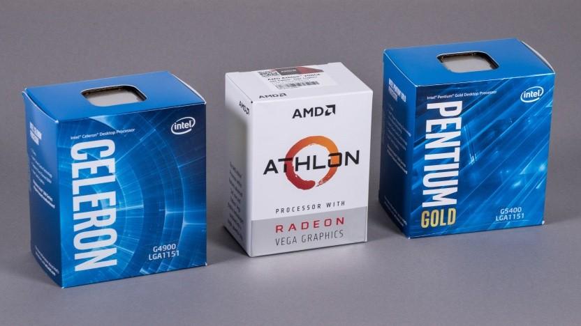 Der Athlon 200GE zwischen einem Celeron und einem Pentium