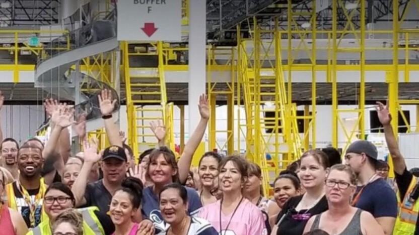 Amazo- Beschäftigte in den USA