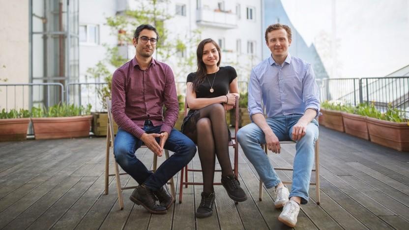 Darius Pajouh, Mitgründer und CEO, Henriette Humprecht, Head of Business Operations und Michael Bucko, Mitgründer und CTO  (v.l.n.r.)