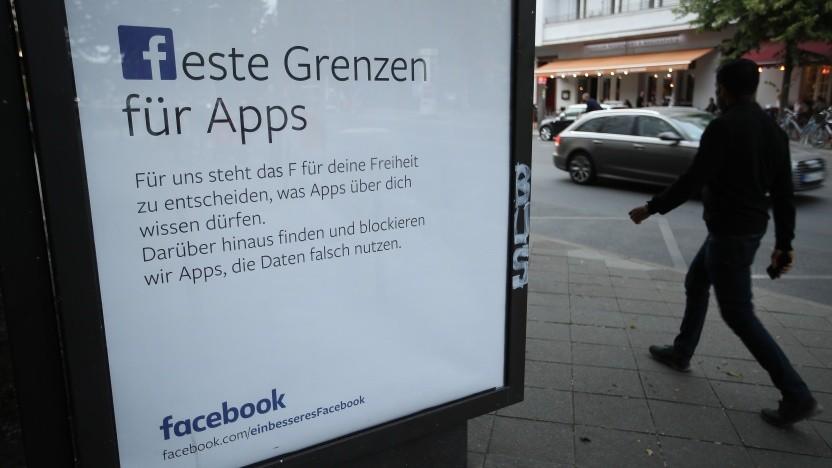 Mit einer Plakataktion versuchte Facebook sein schlechtes Image beim Datenschutz aufzubessern.