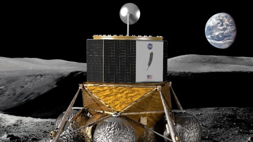 Die geplante Landefähre Blue Moon von Blue Origin