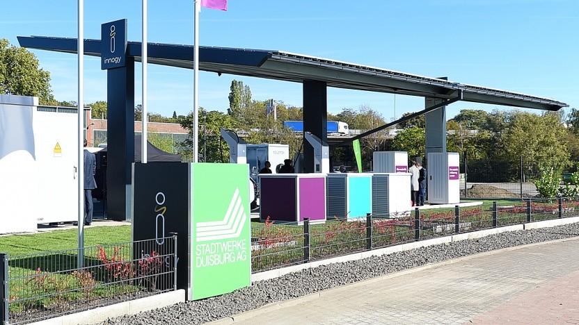 Der neue Ladepark von Innogy in Duisburg