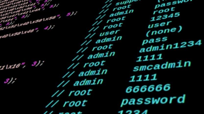 Die Mirai-Malware, deren Quellcode hier zu sehen ist, nutzte bekannte Standardpasswörter, um möglichst viele IoT-Geräte zu hacken.