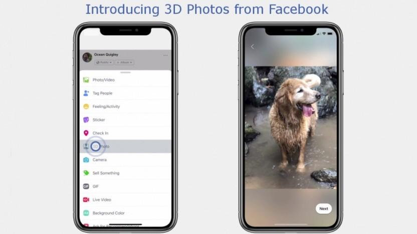 Facebook macht aus normalen Fotos 3D-Bilder.