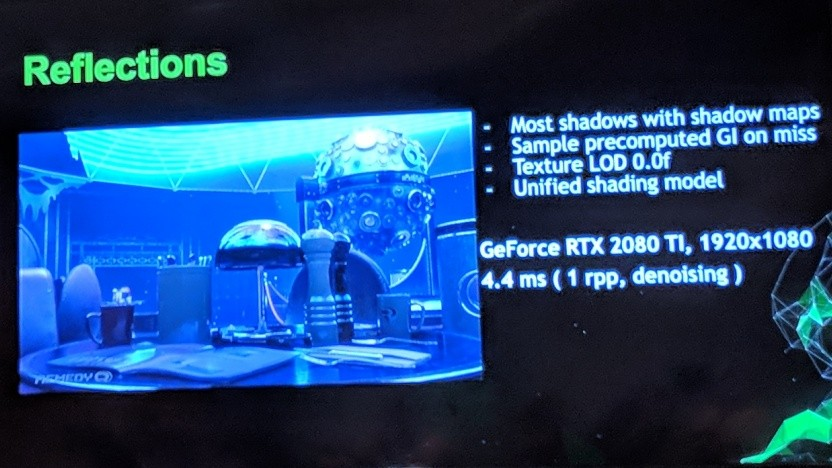 Reflexionen per Raytracing in Remedys Northlight-Engine