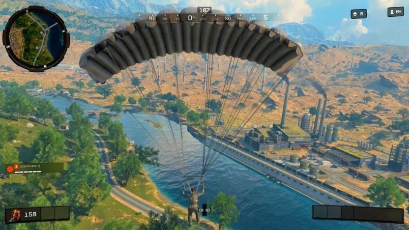 Landung im Zielgebiet von Blackout