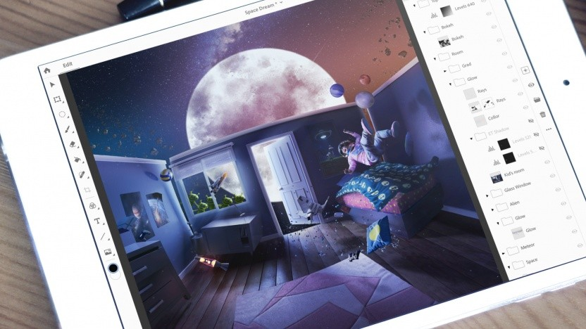 iPad mit Photoshop