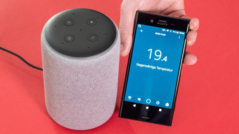 Amazons neuer Echo Plus mit Temperatursensor im Video