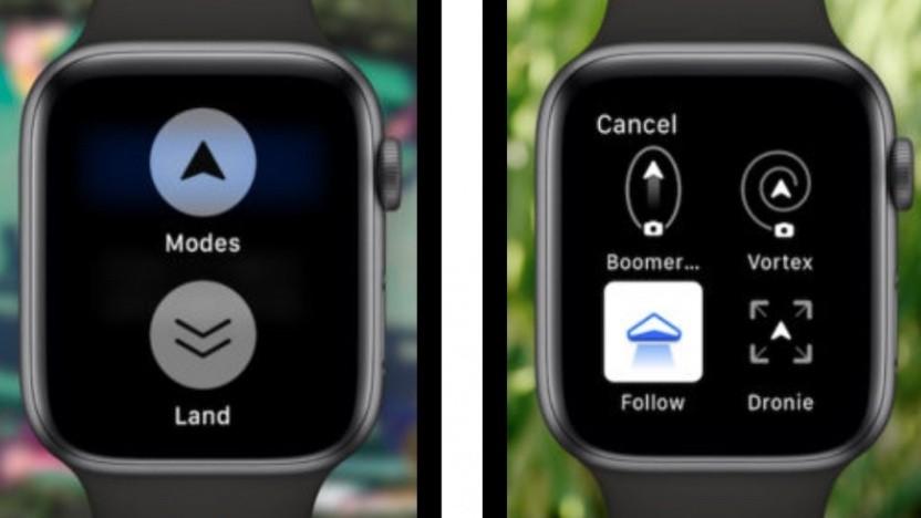 Apple-Watch-App für die Skydio R1