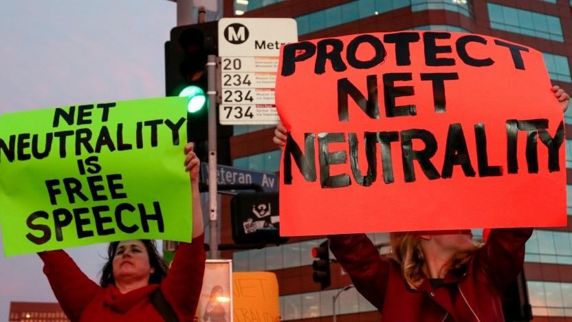 Proteste gegen die Abschaffung der Netzneutratlität in den USA