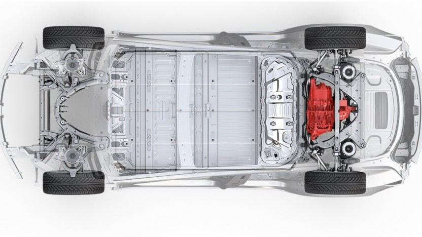 Hinterrad-Antrieb beim Model 3