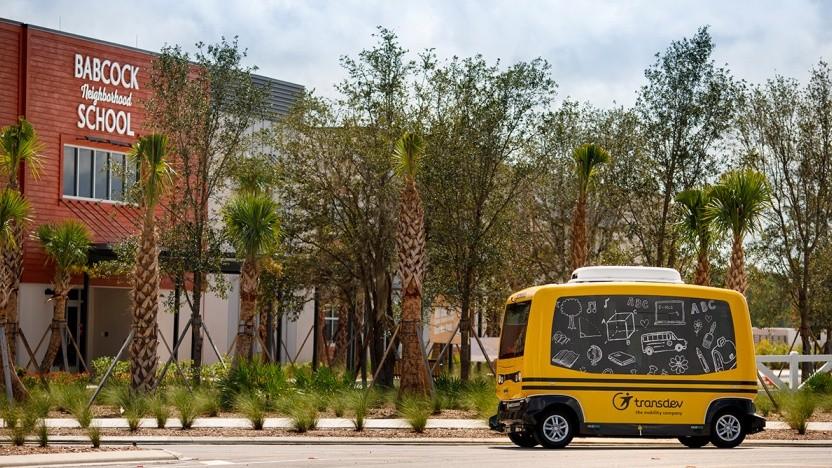 Autonomer Schulbus von Transdev