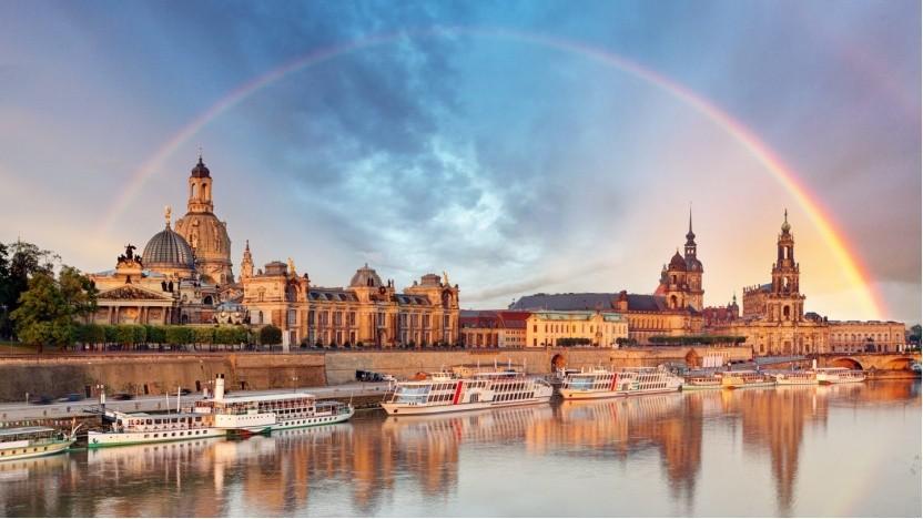Skyline von Dresden: Sachsen wird Gigaland.