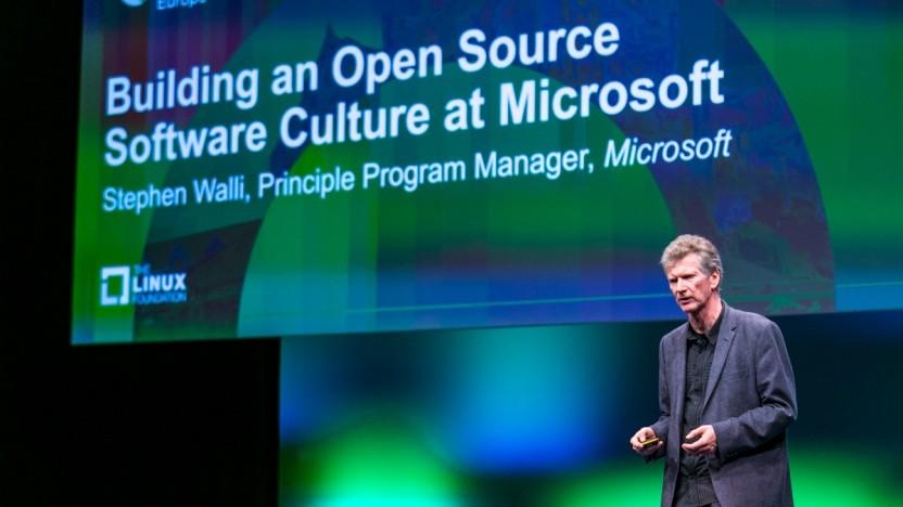 Stephen Walli auf dem Open Source Summit in Edinburgh