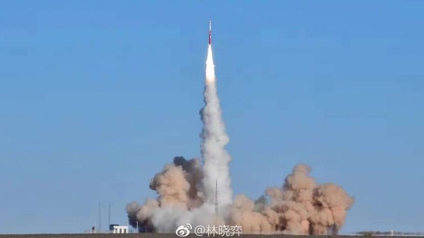 Die Zhuque-1 beim Start in Richtung Orbit