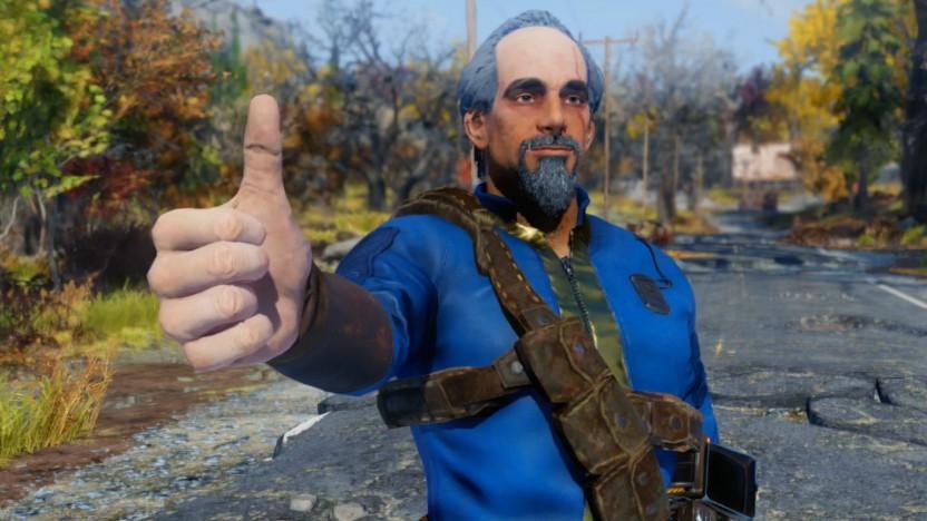 Im Fotomodus von Fallout 76 haben wir ein Selfie mit unserem Charakter gemacht.