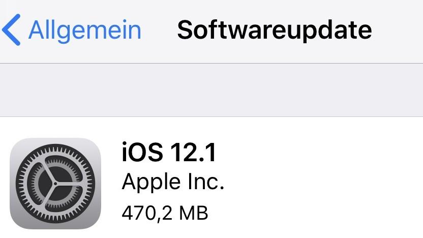 Apples iOS 12.1 ist da.