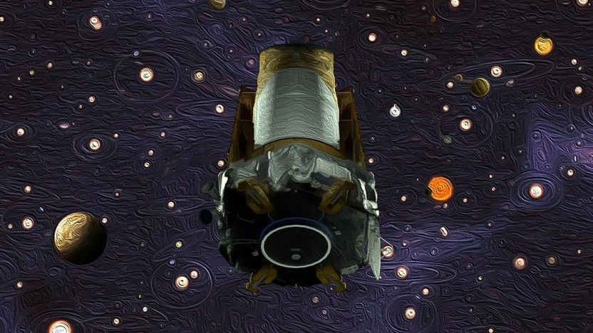 Das Kepler Space Telescope - künstlerische Darstellung