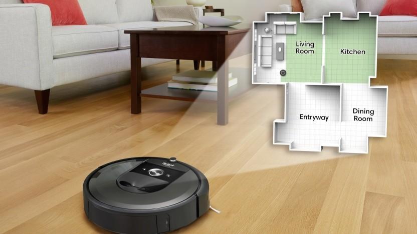 Roomba i7 kartiert die Wohnung.