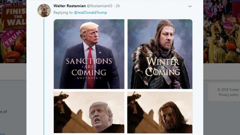 Walter Rostamian auf Twitter (Screenshot)