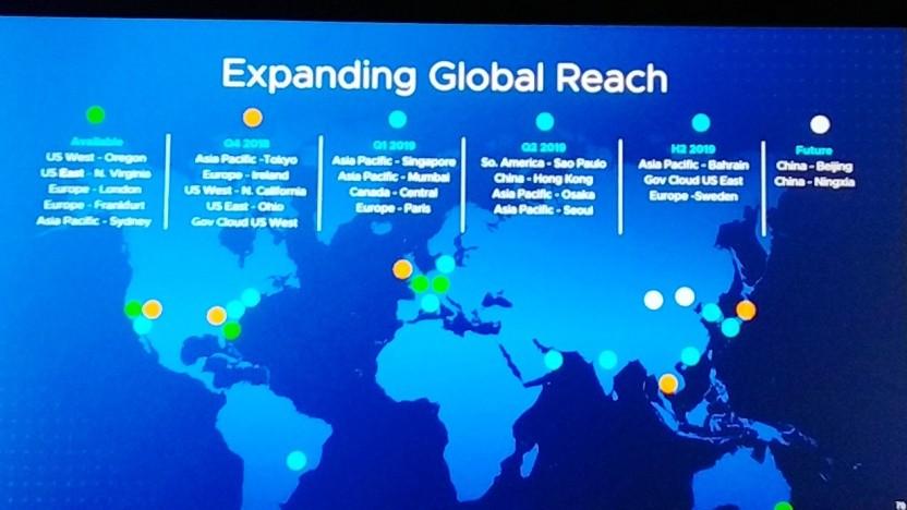 Eine Roadmap für die Expansion von VMware zeigt ambitionierte Pläne.