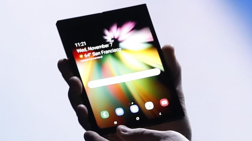 Samsung zeigt sein Infinity Flex Display.