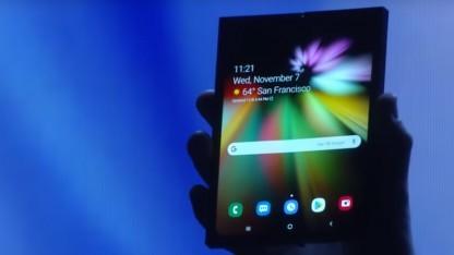 Samsung stellte vor kurzem sein erstes flexibles Display vor.