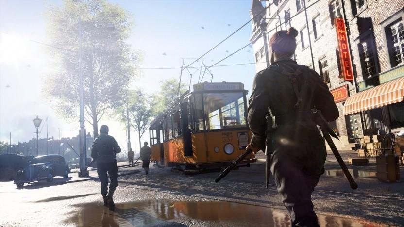 Battlefield 5 mit Spiegelung in der Pfütze