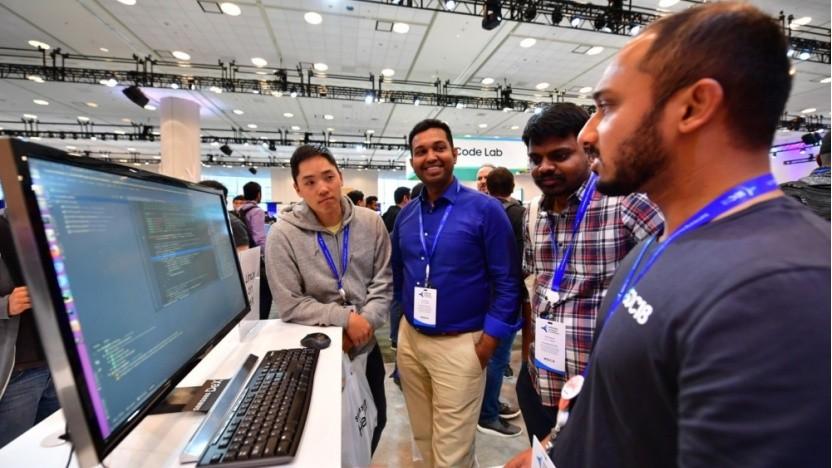 Eine Demo von Linux-on-Dex auf der Entwicklermesse von Samsung